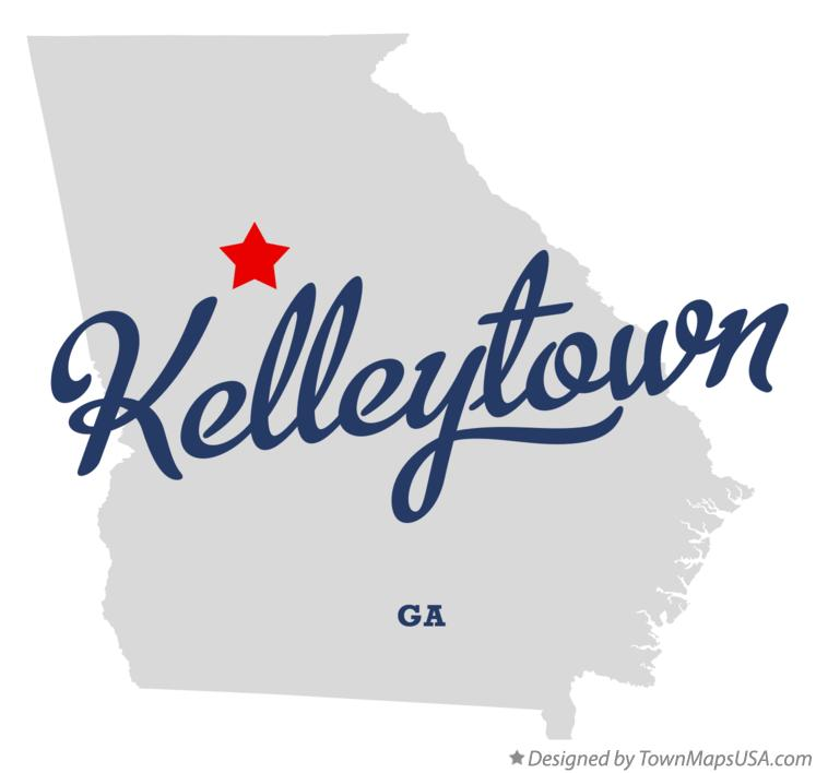 Map of Kelleytown Georgia GA