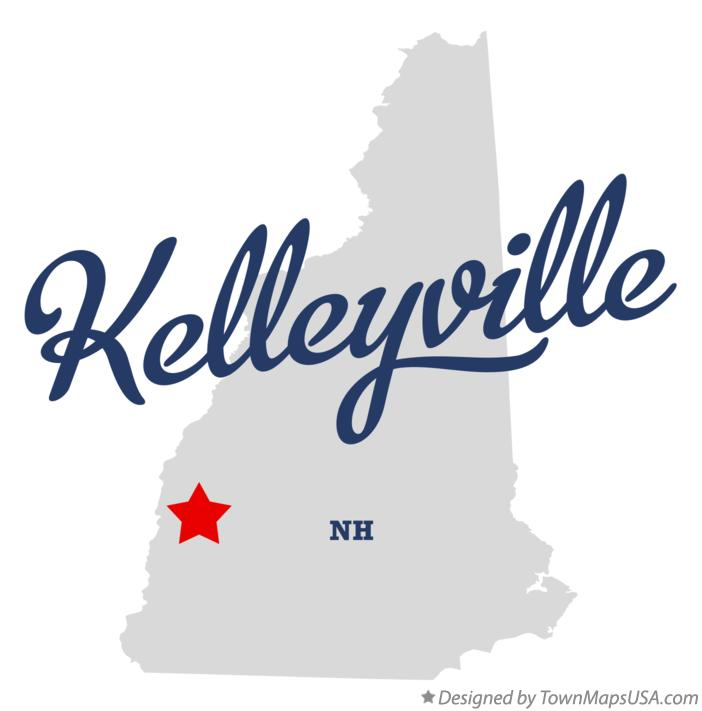 Map of Kelleyville New Hampshire NH