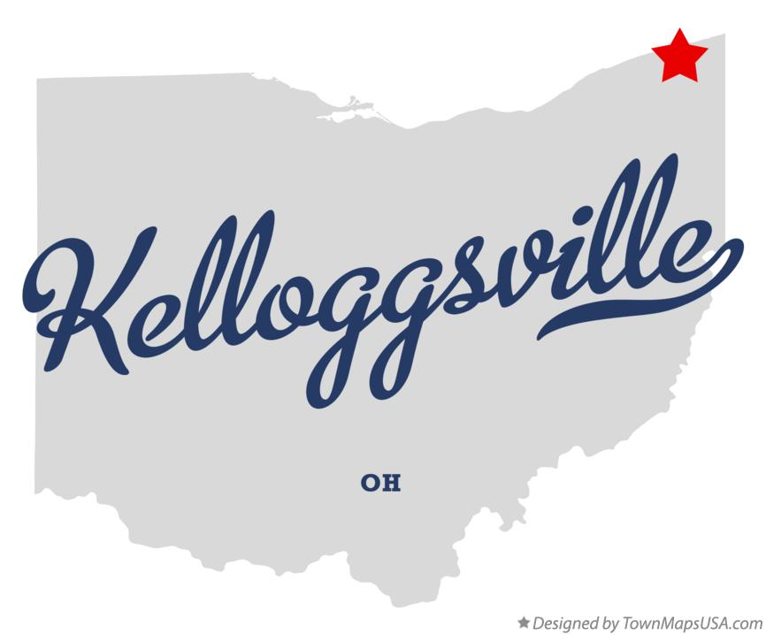 Map of Kelloggsville Ohio OH