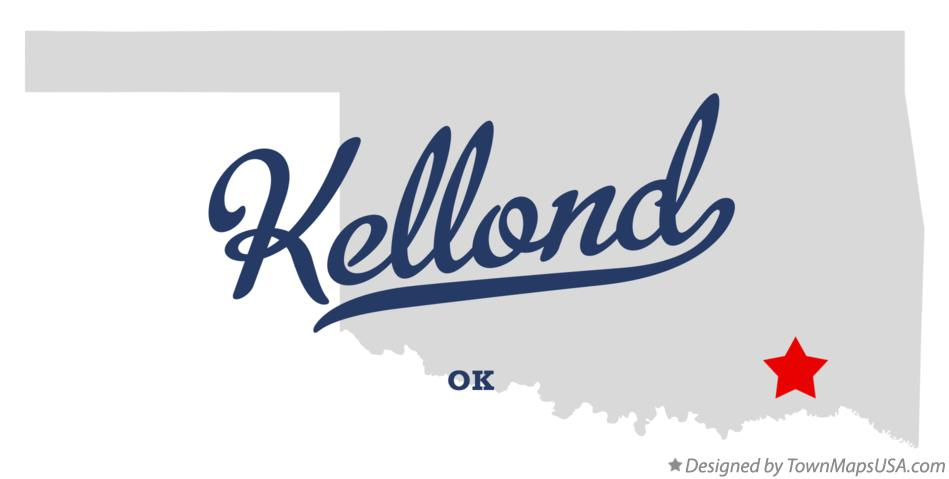 Map of Kellond Oklahoma OK
