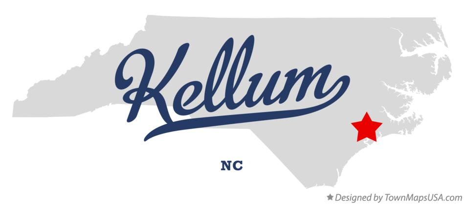 Map of Kellum North Carolina NC