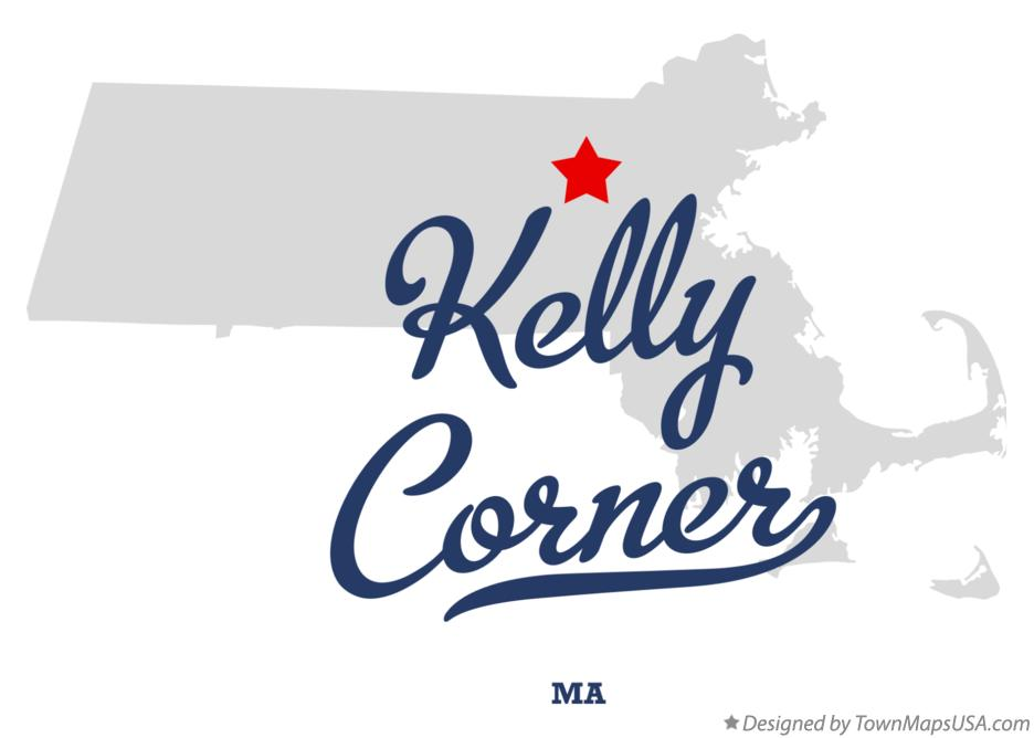 Map of Kelly Corner Massachusetts MA