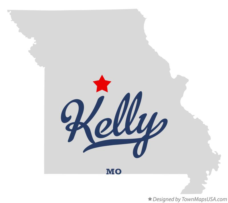 Map of Kelly Missouri MO