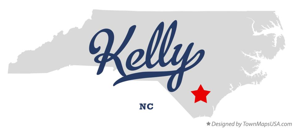 Map of Kelly North Carolina NC