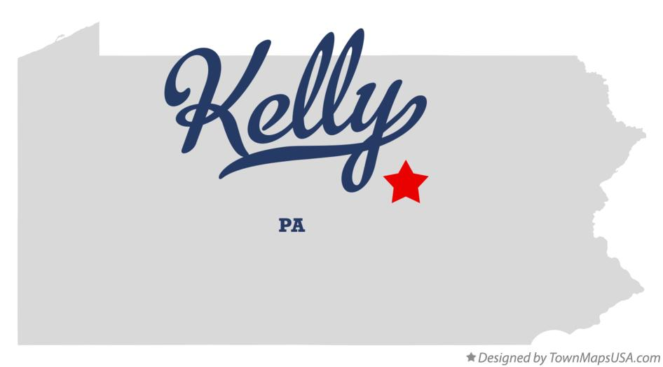 Map of Kelly Pennsylvania PA