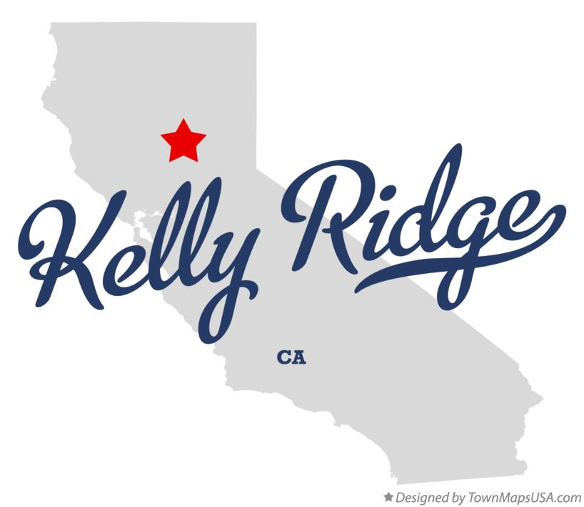 Map of Kelly Ridge California CA