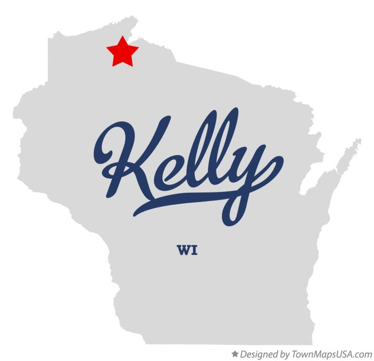 Map of Kelly Wisconsin WI