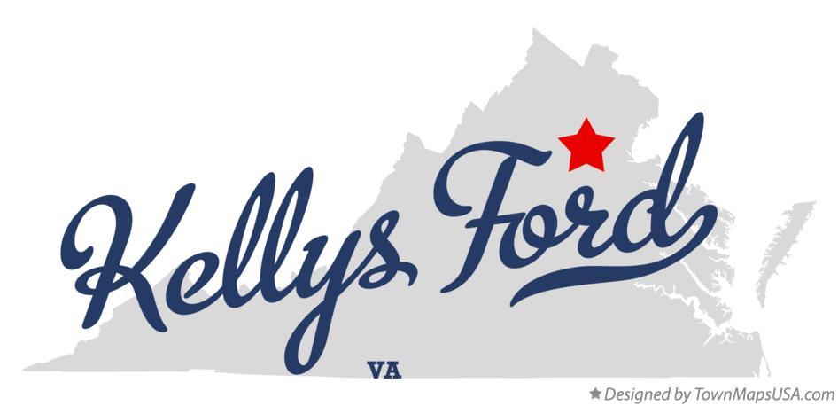 Map of Kellys Ford Virginia VA