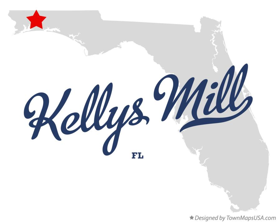 Map of Kellys Mill Florida FL