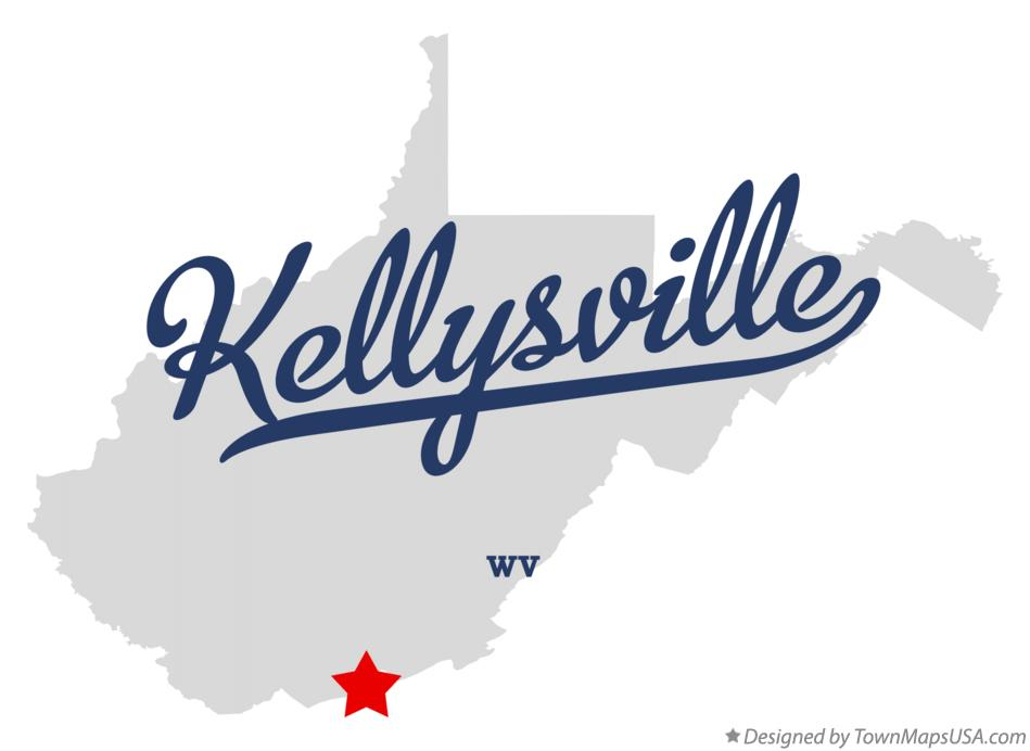 Map of Kellysville West Virginia WV