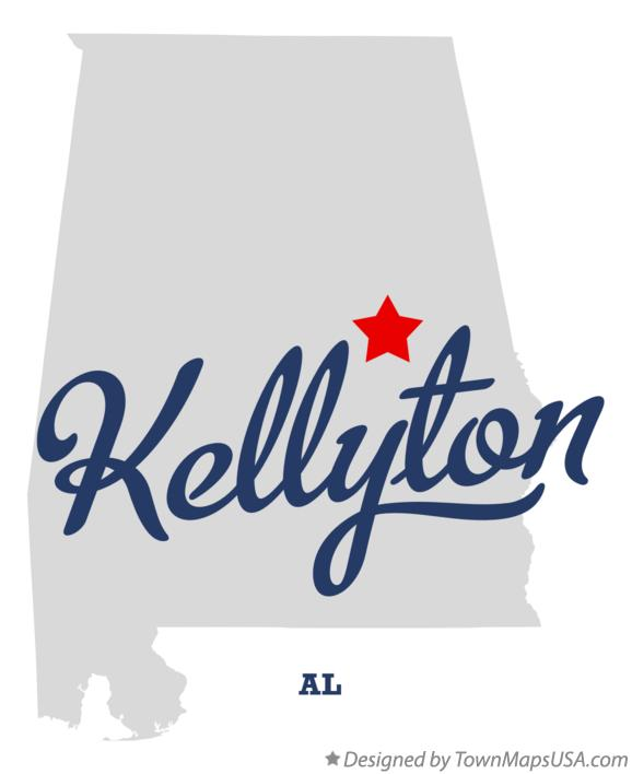 Map of Kellyton Alabama AL