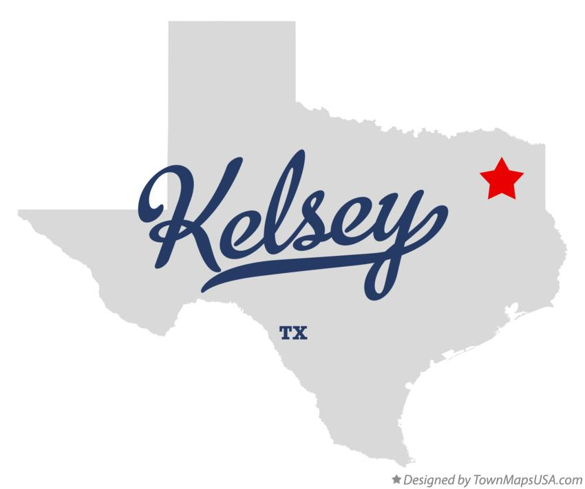 Map of Kelsey Texas TX