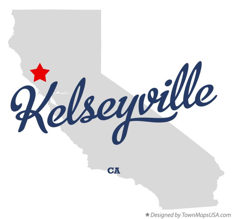 Map of Kelseyville California CA