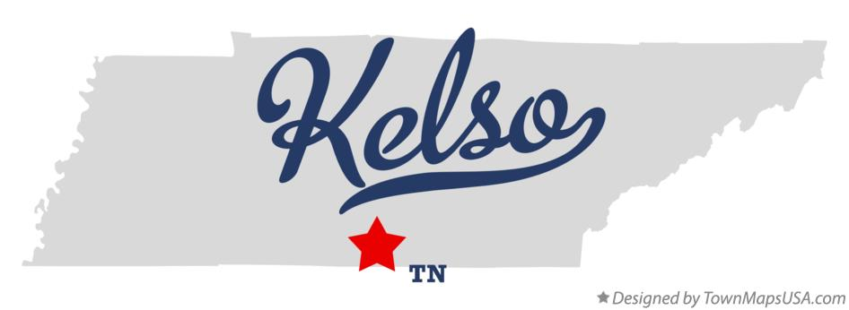 Map of Kelso Tennessee TN