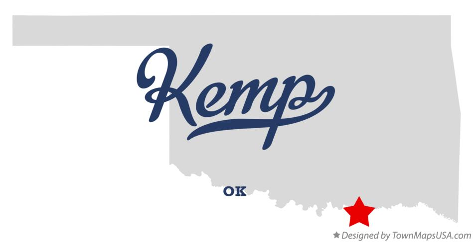 Map of Kemp Oklahoma OK