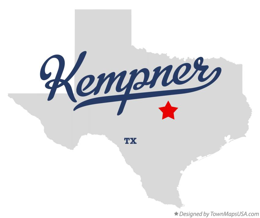Map of Kempner Texas TX