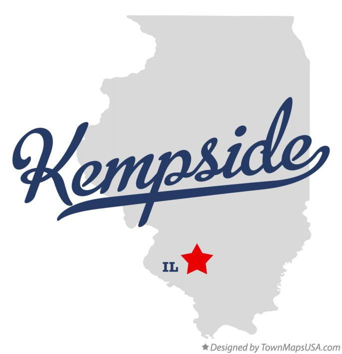 Map of Kempside Illinois IL