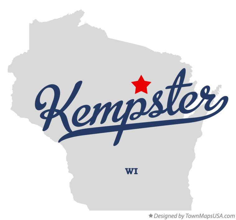 Map of Kempster Wisconsin WI