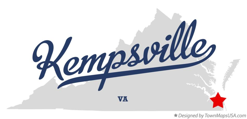 Map of Kempsville Virginia VA