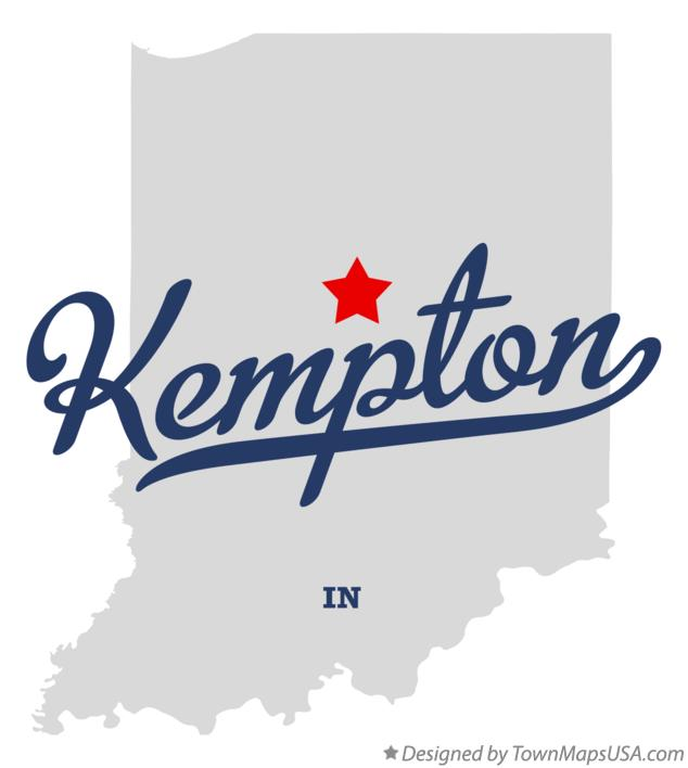 Map of Kempton Indiana IN