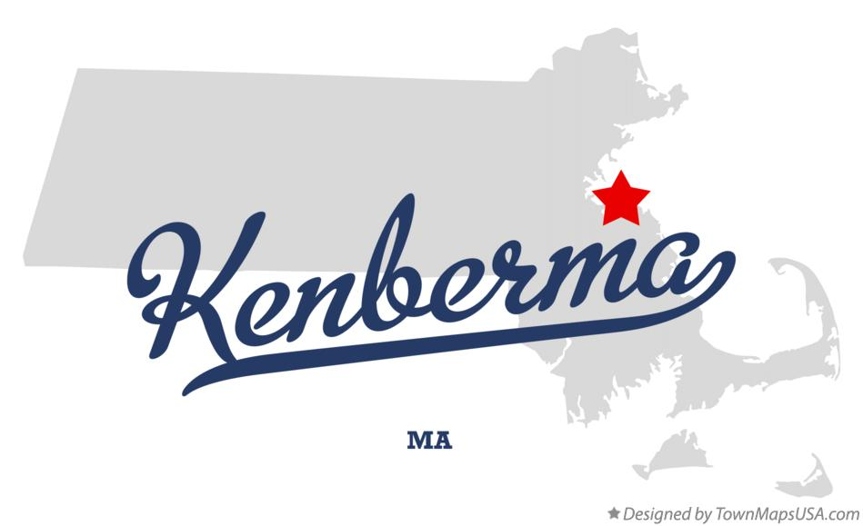 Map of Kenberma Massachusetts MA