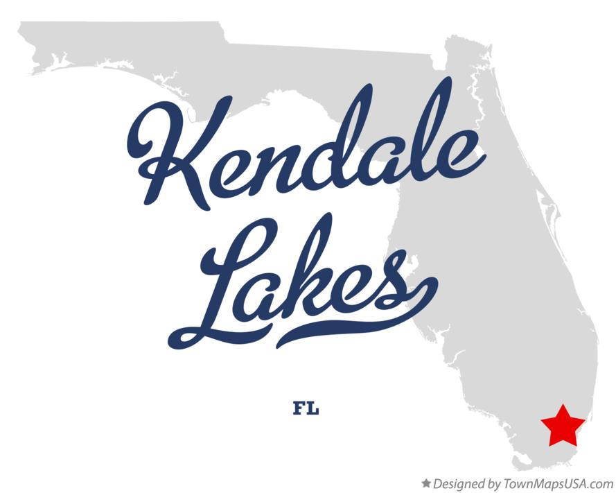 Map of Kendale Lakes Florida FL