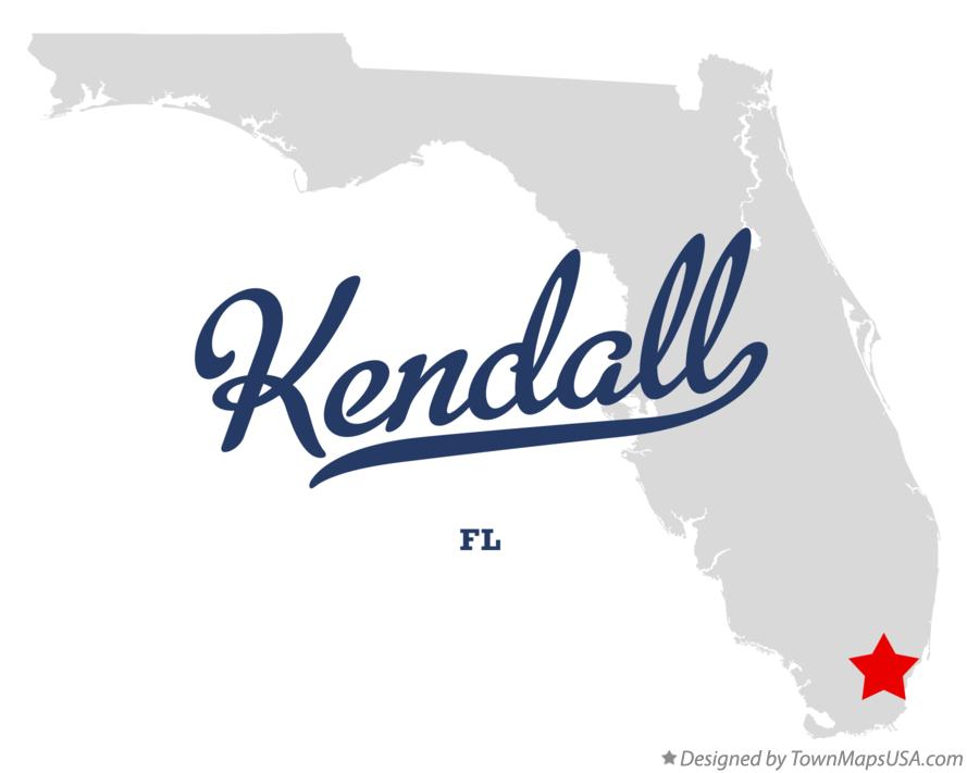 Map of Kendall Florida FL
