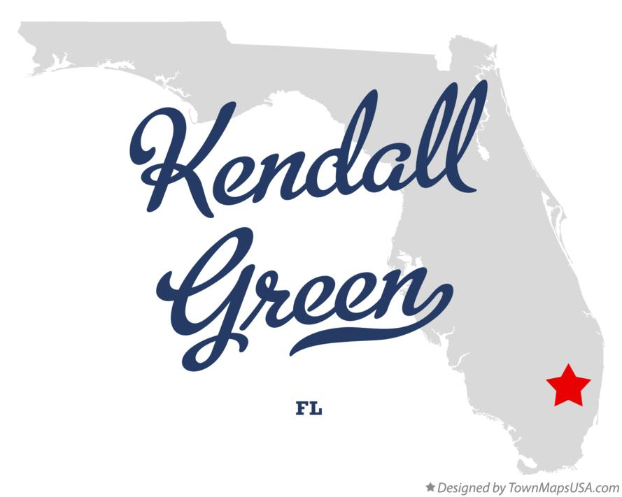 Map of Kendall Green Florida FL