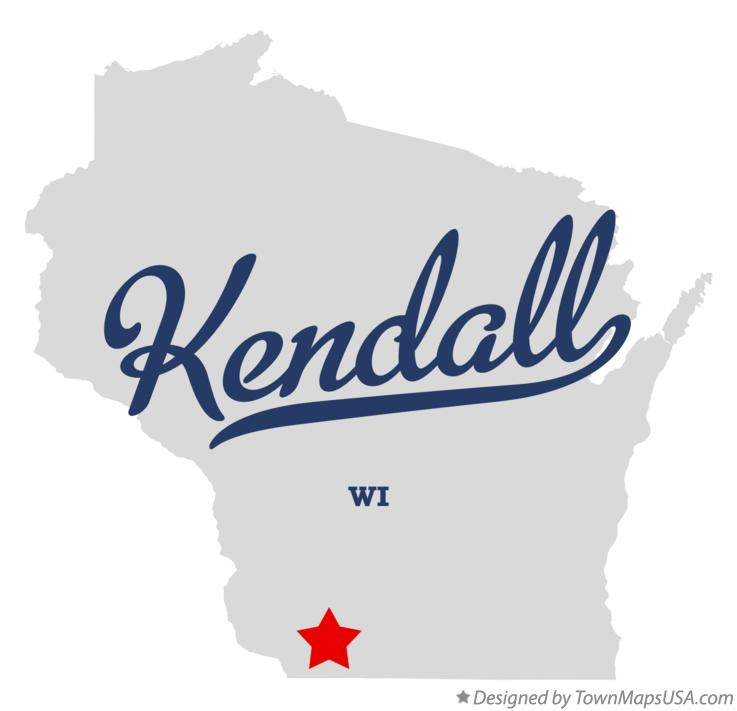 Map of Kendall Wisconsin WI