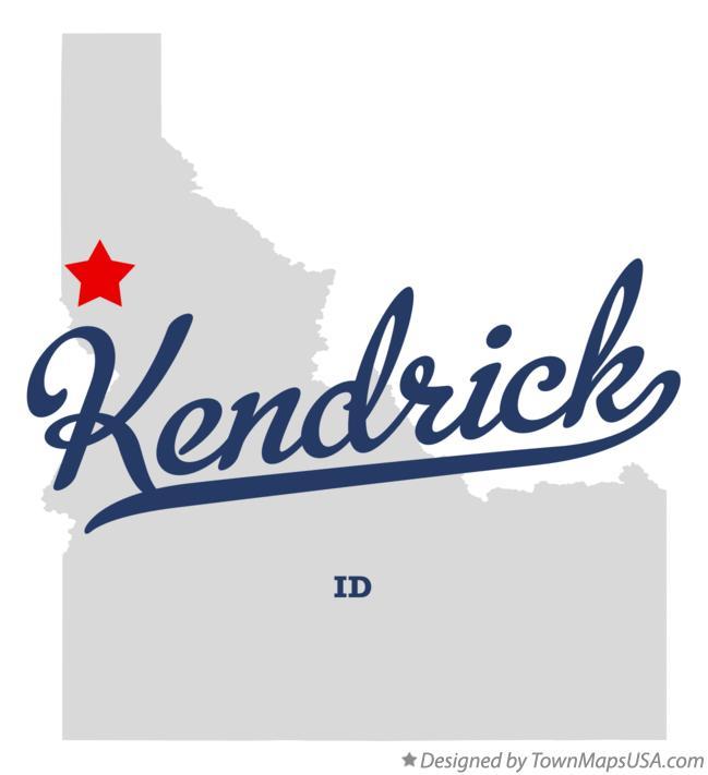 Kendrick Idaho Map.Map Of Kendrick Id Idaho
