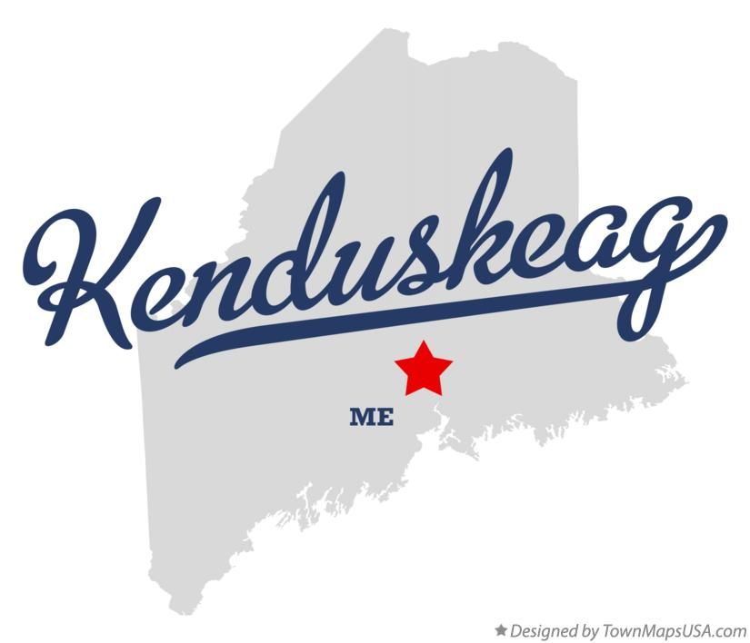 Map of Kenduskeag Maine ME