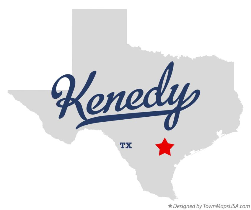 Map of Kenedy Texas TX