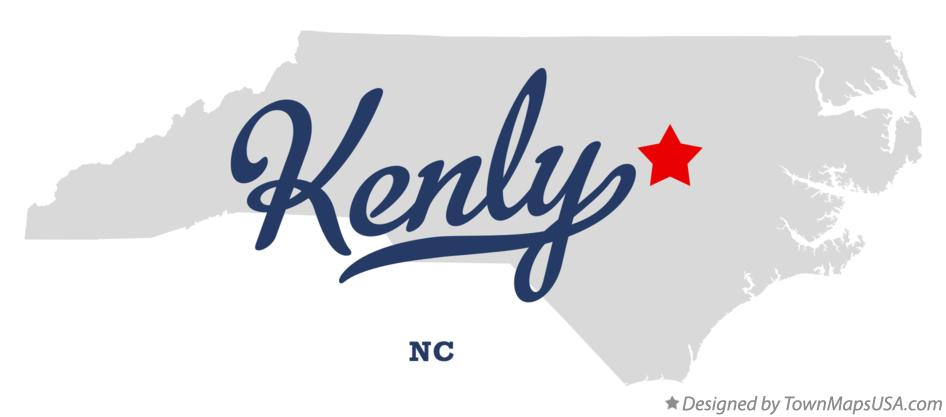 Map Of Kenly Nc North Carolina