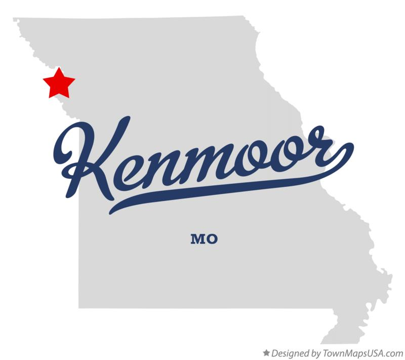 Map of Kenmoor Missouri MO