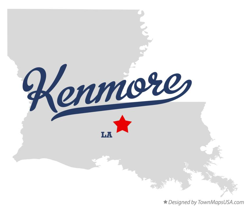 Map of Kenmore Louisiana LA