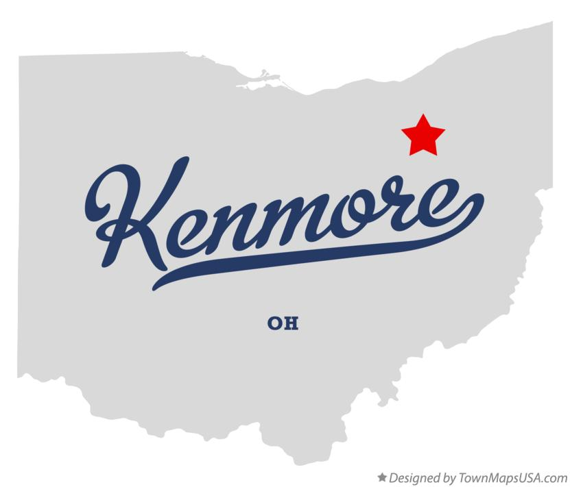 Map of Kenmore Ohio OH