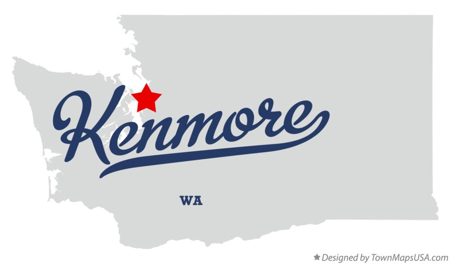 Map of Kenmore Washington WA