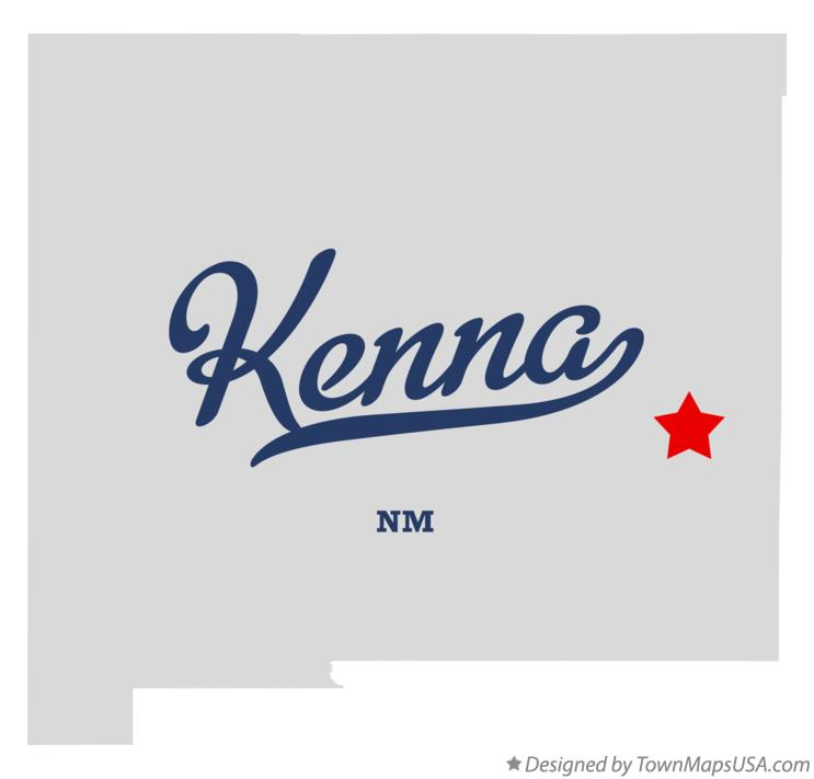 Map of Kenna New Mexico NM