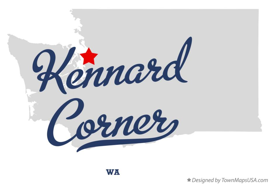 Map of Kennard Corner Washington WA