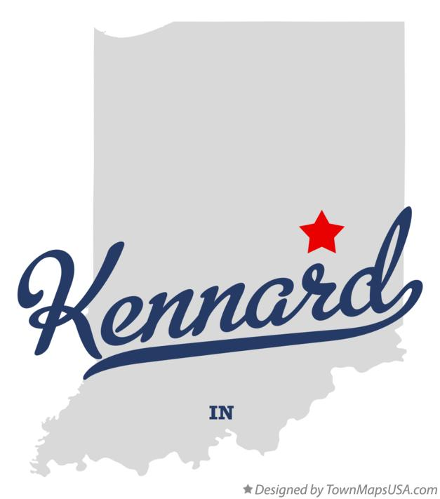 Map of Kennard Indiana IN