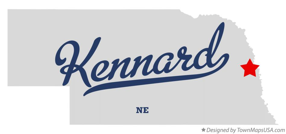 Map of Kennard Nebraska NE
