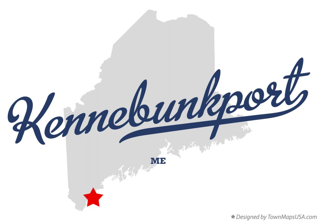 Map of Kennebunkport Maine ME