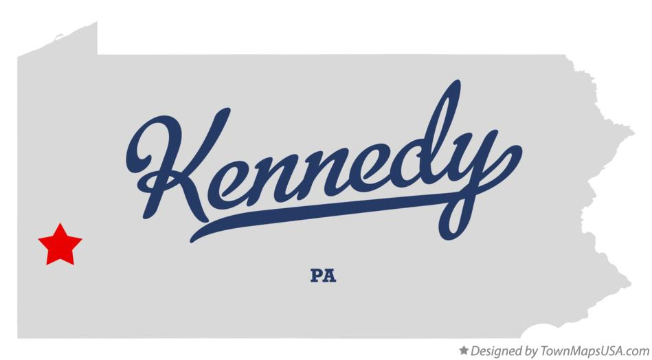 Map of Kennedy Pennsylvania PA