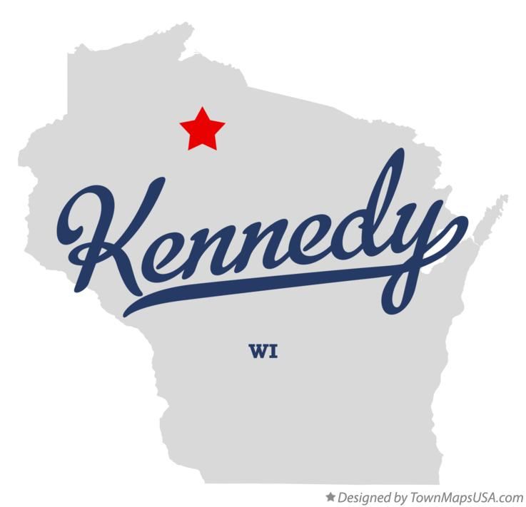 Map of Kennedy Wisconsin WI