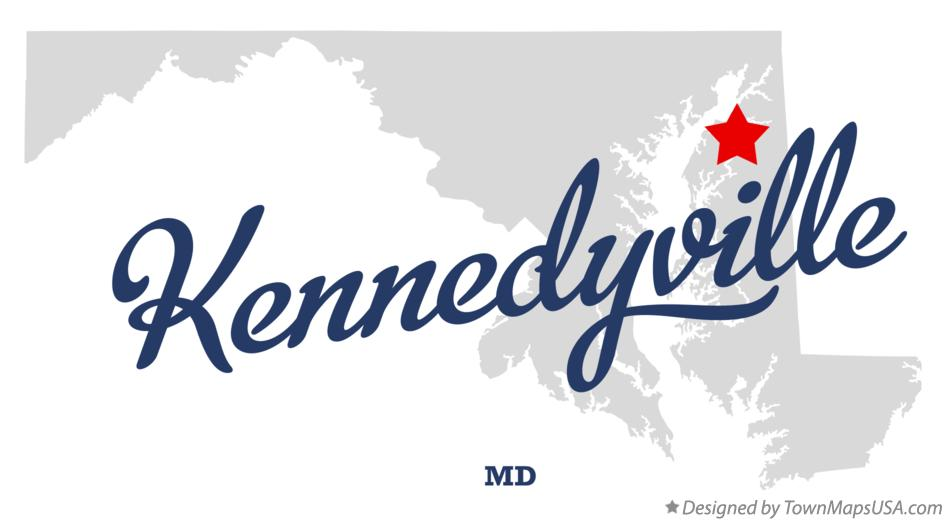 Map of Kennedyville Maryland MD