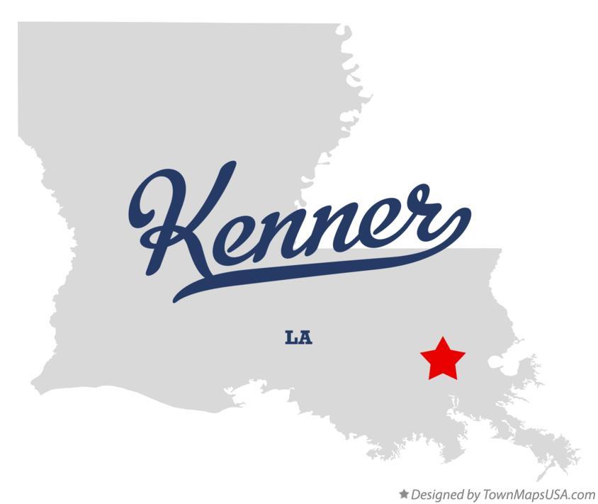 Map of Kenner LA Louisiana
