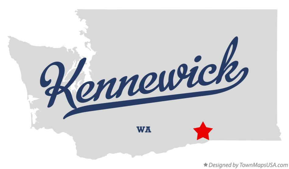 Map of Kennewick Washington WA