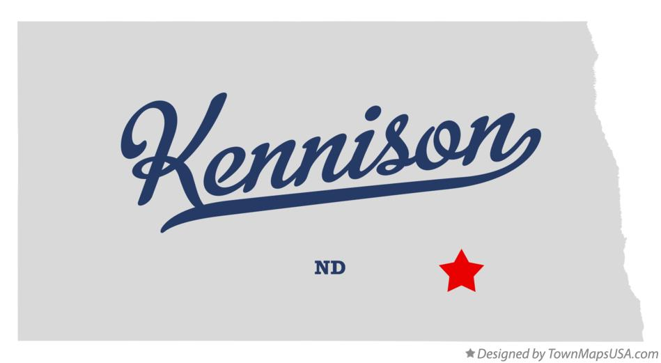 Map of Kennison North Dakota ND