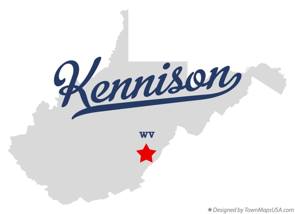 Map of Kennison West Virginia WV