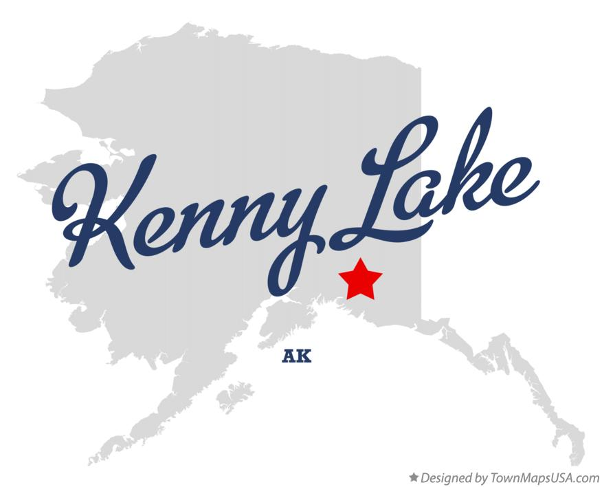Map of Kenny Lake Alaska AK